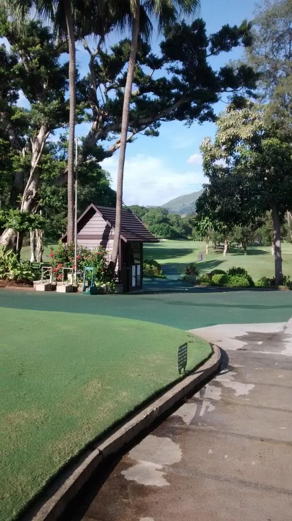 The first tee shot at the Hong Kong Golf Club